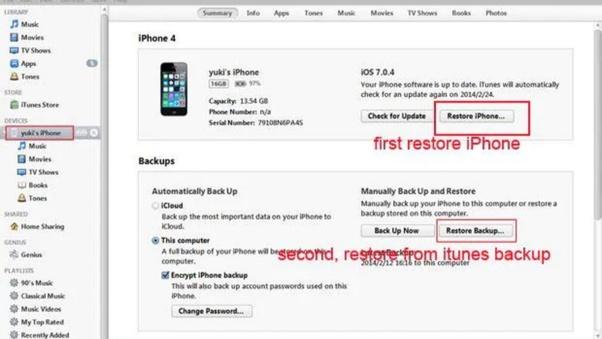 How To Retrieve An Iphone Passcode Quora