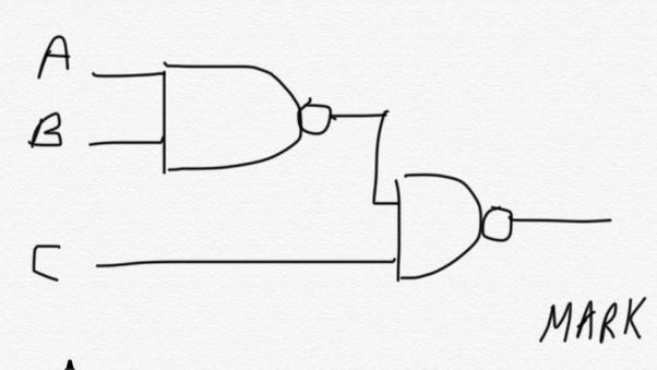 How To Implement A 3 Input Nand Function Using 2 Input Nand Gates