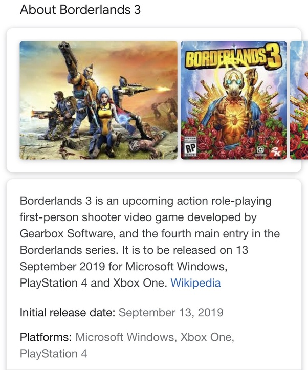 Will Borderlands 3 be on the PlayStation 4? - Quora