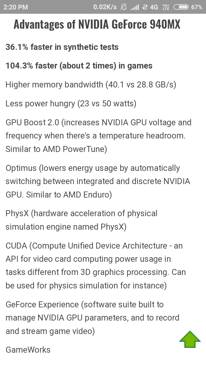 Which is better, AMD Radeon 530 (2GB) or Nvidia GeForce 940MX (2GB