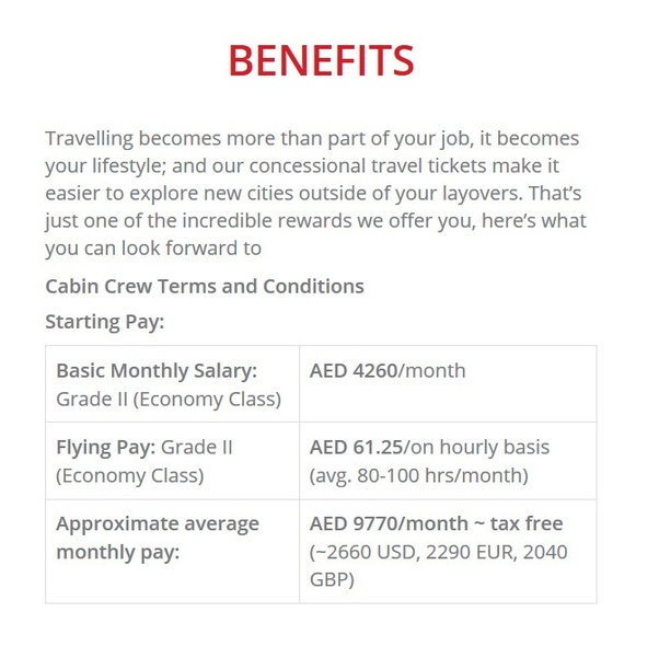 How Much Is The Salary Of An Emirates Flight Attendant Quora