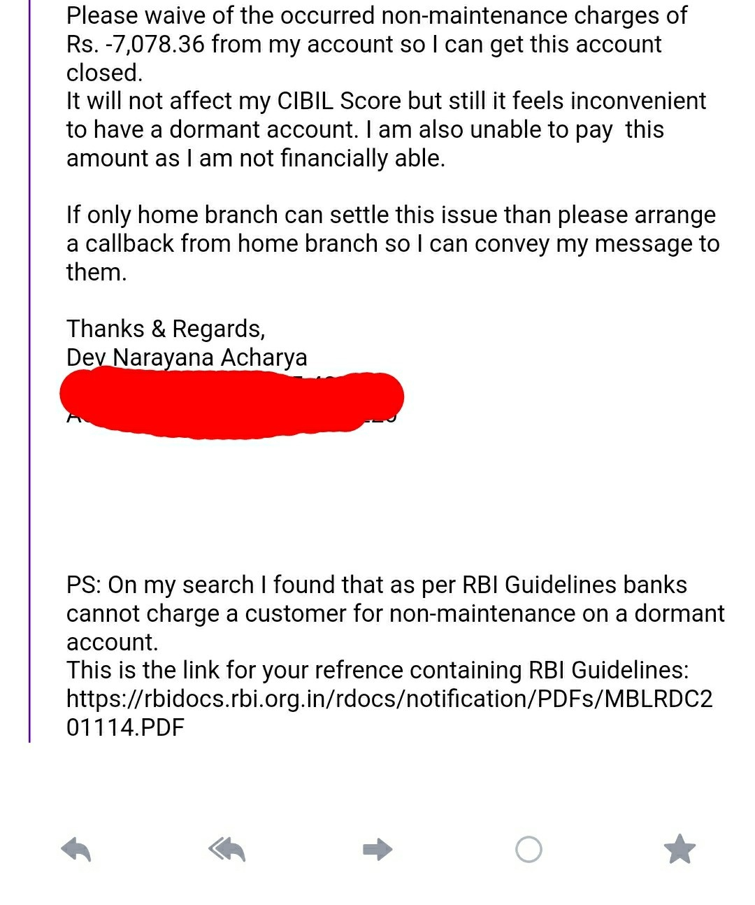 I did not maintain the minimum balance in HDFC and now my