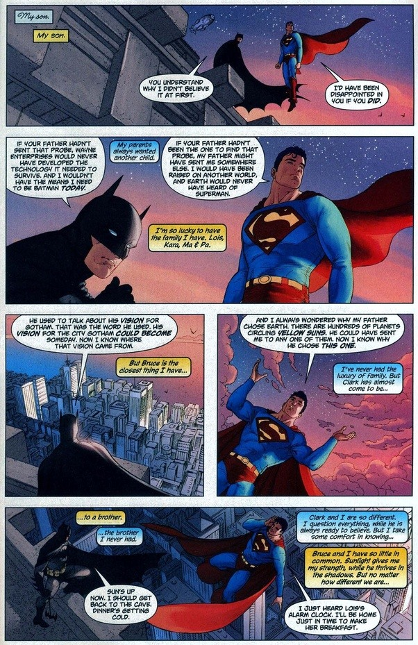 what do batman and superman have in common Unlike batman, superman has a vast amount superpowers at his disposal  as  superman and has fought many arch enemies with his most common enemy  being  over the years, both batman and superman have had an on-and-off  again  'dog days' review: canine lovers will cry, everyone else will roll  their eyes.