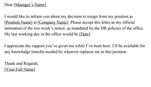 Resignation Letter Without Two Weeks Notice from qph.fs.quoracdn.net