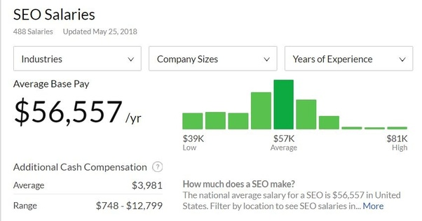 How Much Salary Is Paid For An Seo Analyst In Small