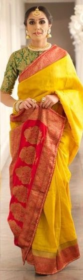 061e52cd5d2e8 It is versatile and perfect to go with a banarasi saree. However