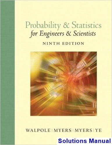 applied statistics for engineers and scientists solution manual devore pdf