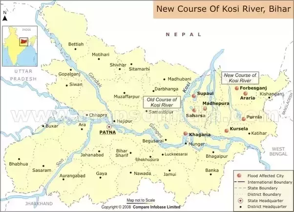 Why is the koshi river called the sorrow of bihar quora the koshi is 720 km 450 mi long and drains an area of about 74500 km sq 28800 sq mi in tibet nepal and bihar its unstable nature has been attributed gumiabroncs Images