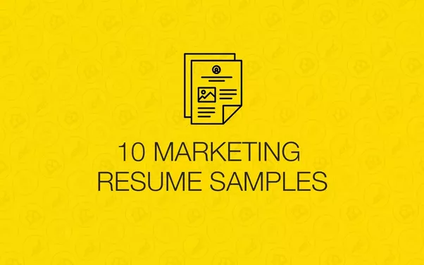 what should be included in a resume for entry level marketing jobs