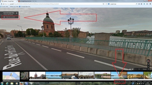Im Not Sure If The Date At Bottomright Of Interface Reflects Te Actual Satellite Shot However On Google Street View We Have A More
