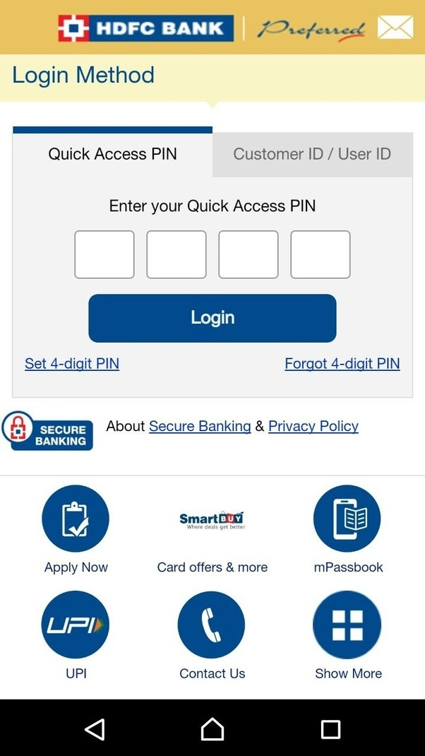 how to get mobile banking in hdfc bank