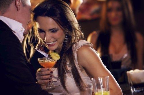 Teasing girl at the club. Avoiding awkward silence.