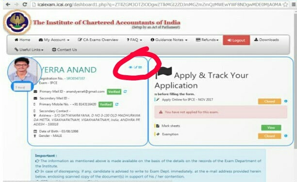 How To Change The Address Submitted To Icai Quora