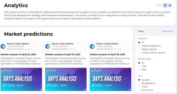 cryptocurrency market analytics