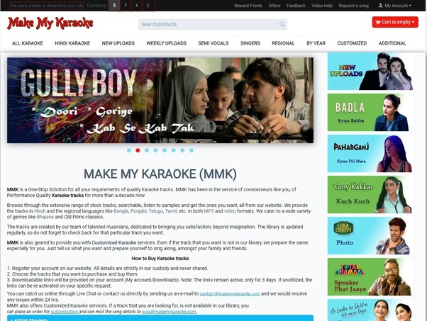 What is the best site for karaoke of Indian songs? - Quora
