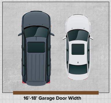 How wide is the door of a two car garage quora for How wide is a garage door