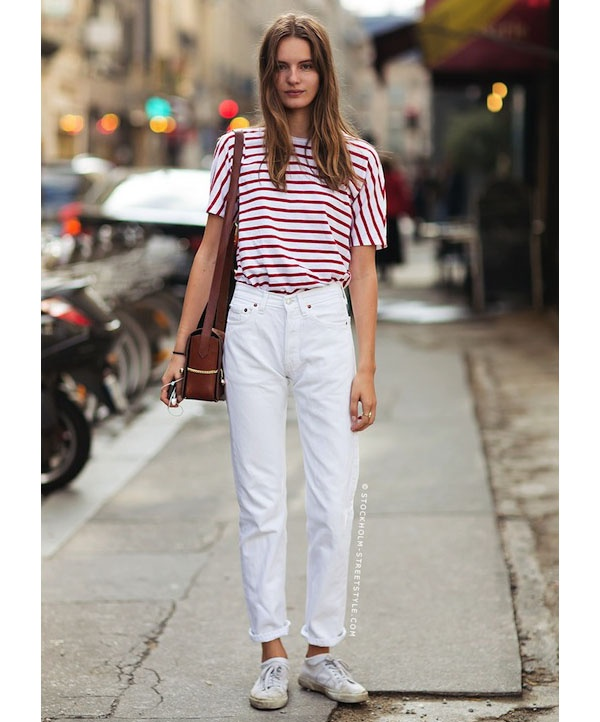 Shoe Goes Well With White Jeans