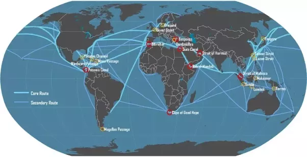 Which Ocean Is The Busiest Shipping Route In The World Quora - Important oceans of the world