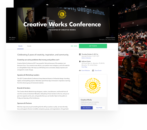Of Great Quora Are Event - Examples Some conference What Ux For Registration