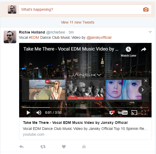 How to embed a youtube video on twitter so that it plays back whether or not they can play the video within twitter or if they just see the link if they have the youtube app then it may also open in that reheart Images
