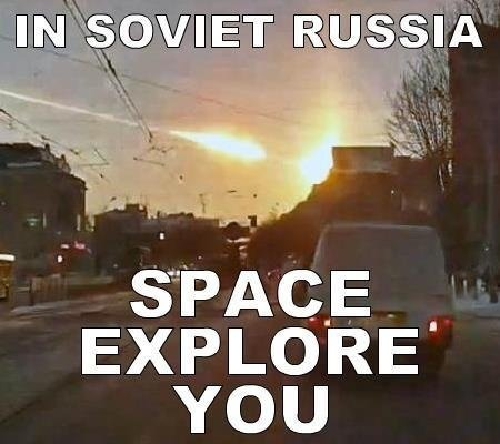 What are some of the best 'In Soviet Russia' jokes/one
