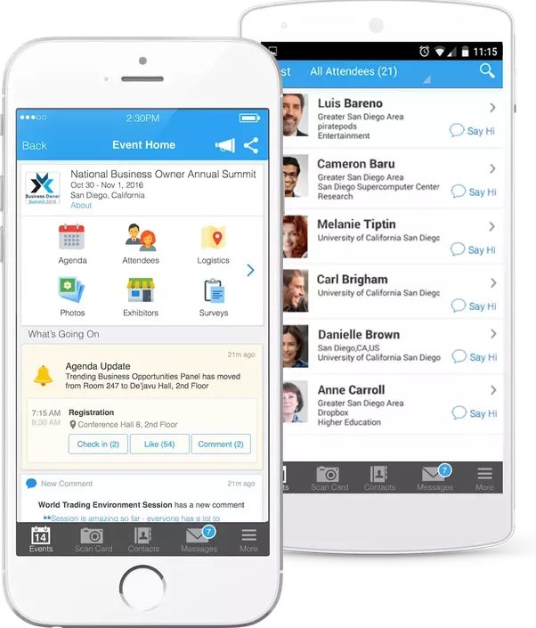 the award winning whova event app is trusted by many innovative brands weve worked with well known corp events academic events government events expos