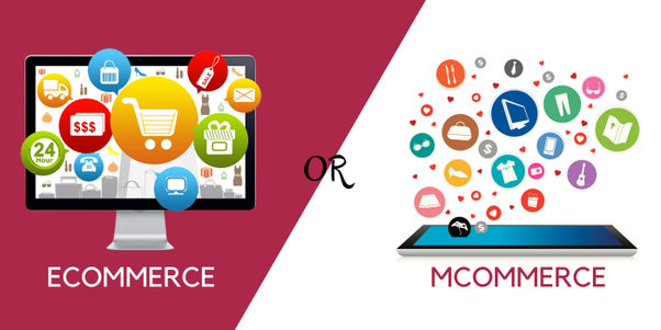 What is the difference between ecommerce and mcommerce for E commerce mobili