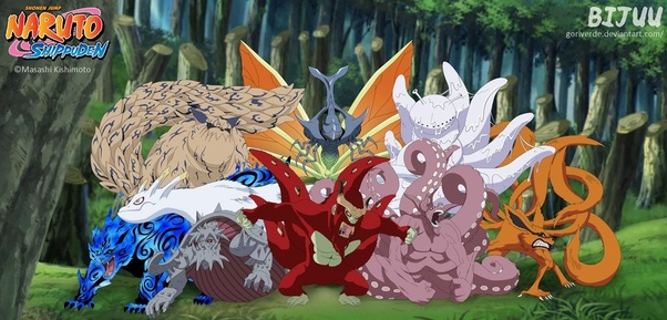 The Tailed Beasts Are A Set Of Massive Chakra Monsters Created By Splitting An Even More Monster Called Ten TailsJuubi