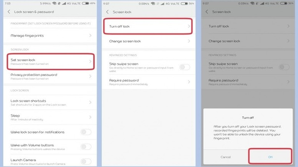 How to change the app lock from pattern to PIN on a Redmi