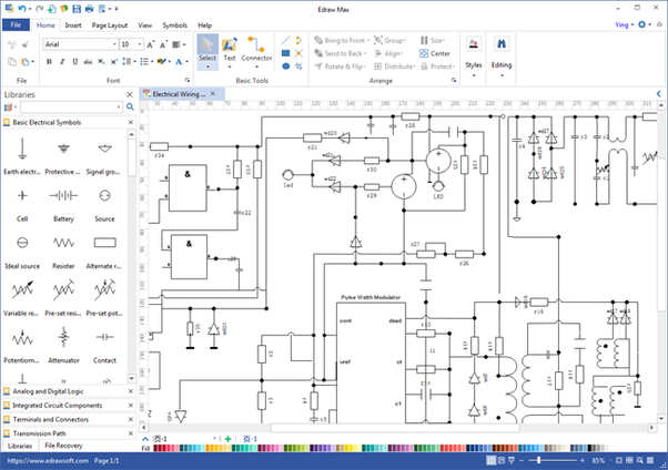 Is there some advanced software used to draw professional schematic you can create streamlined schematic diagrams circuits and wiring diagrams with a comprehensive list of electrical symbols its cloud collaborative and ccuart Choice Image