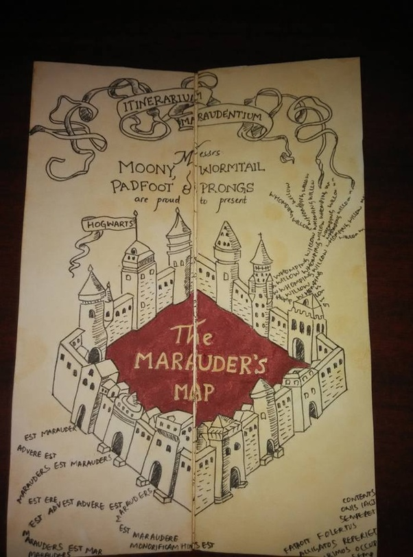 A Near Perfect Marauders Map Created By Her Look At The Impeccable Detailing Texture Of Paper And Accuracy Verse