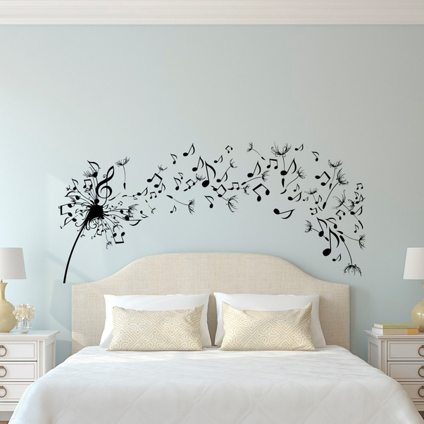 Using Wall Decals Is Also A Simple Way To Decorate Your Bedroom You Do Not Need Too Much Effort For Complicated Furniture