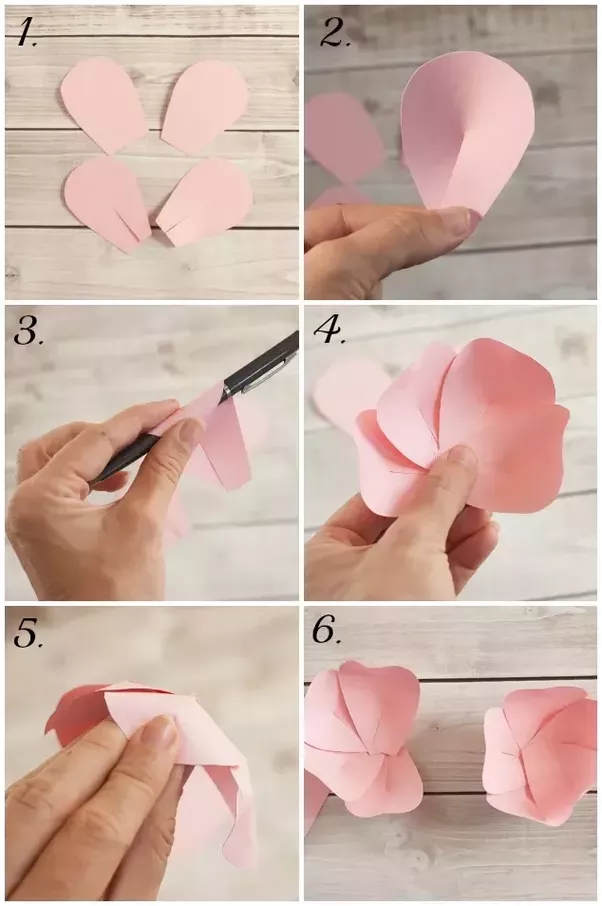 What are some creative ways to make paper flowers step by step? - Quora