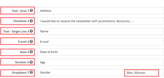 are there standard demographic question templates for business
