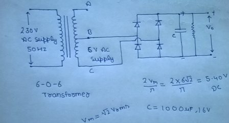 how to convert 220 v ac to 5 v dc for my breadboard power supply quora led power supply wiring diagram if you want to learn something, make your own dc supply by using a 6 0 6 transformer, diodes, connecting wires, capacitor, resistors as shown in figure (it