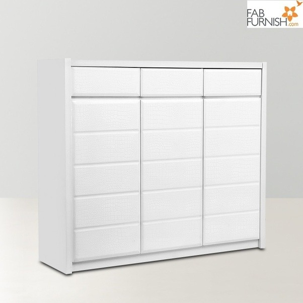 HomeTown Acer 3 Door Shoe Rack White