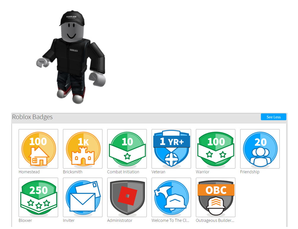 Who Is The World S Most Skilled Roblox Player Quora - roblox badges list