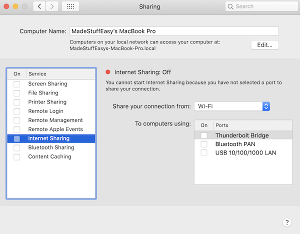 How to create a WiFi hotspot in my MACBOOK AIR - Quora