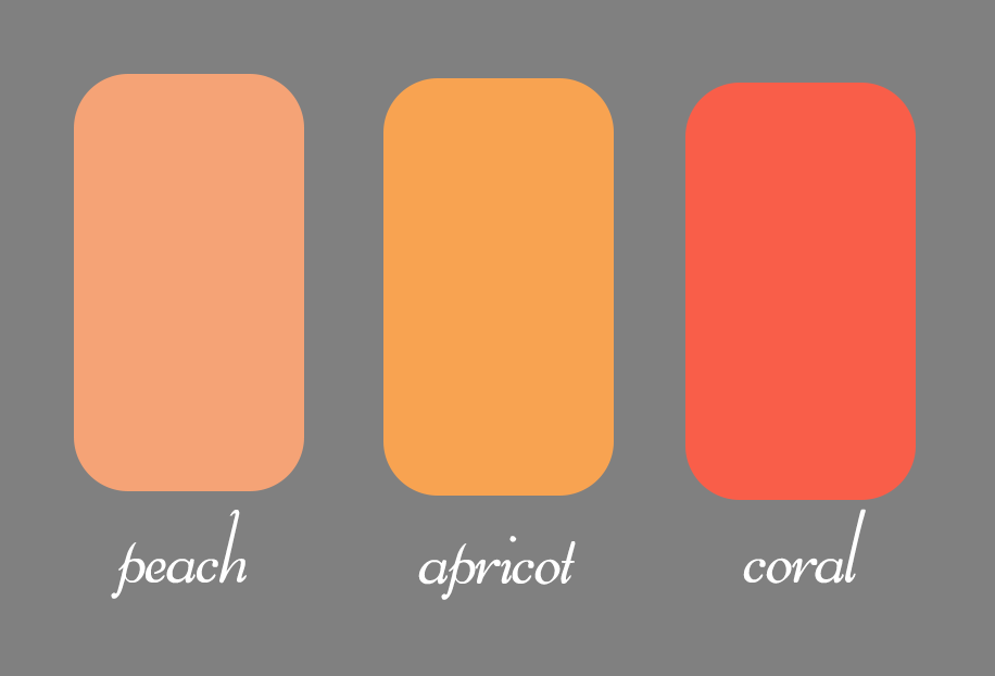 What Are Differences Between The Colors Peach Coral And Apricot