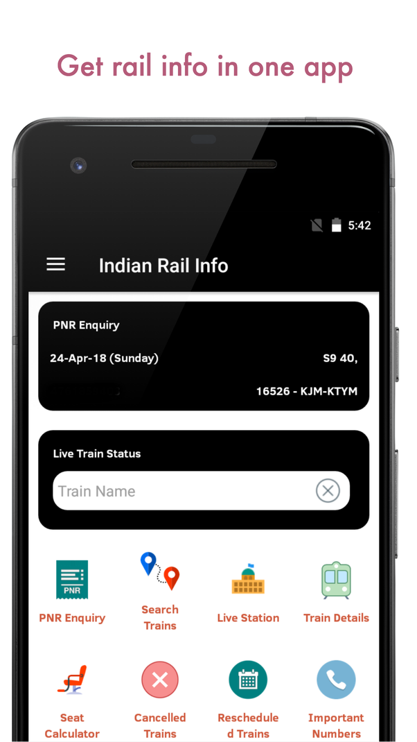 What is the best Indian railway app available in the iOS and