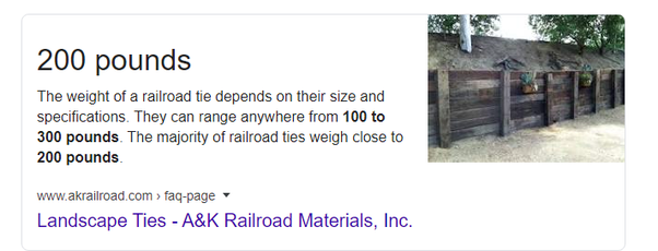 How Much Does An 8 Foot Railroad Tie Weigh Quora
