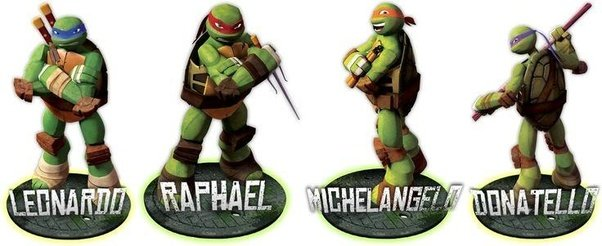 What are the names of the Teenage Mutant Ninja turtles ...  What are the na...