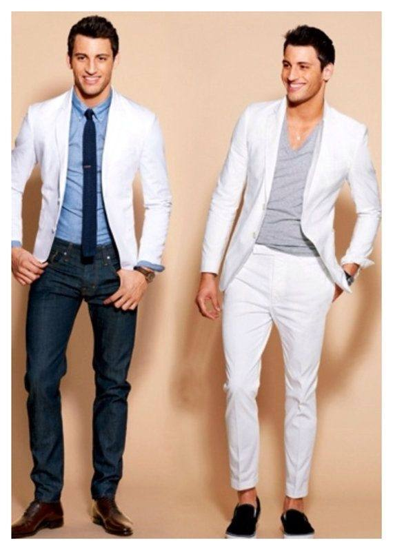 Which color of shirt and pants matches a white blazer? - Quora