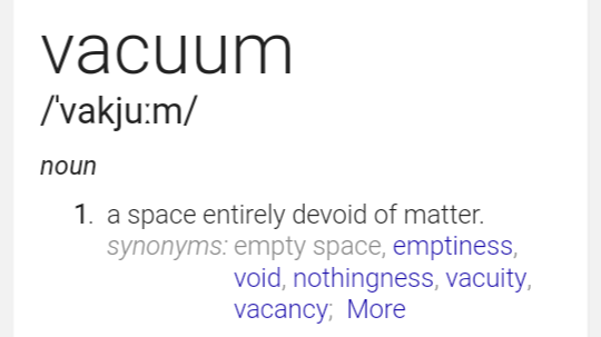I Regret Dont Come Across The Word Like Vaccum
