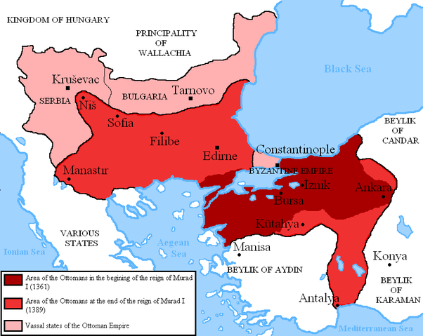 As You Can See In The Map Above By 1389 The City Was Entirely Surrounded By  The Ottoman Empire And It Was A Matter Of When The City Would Fall.