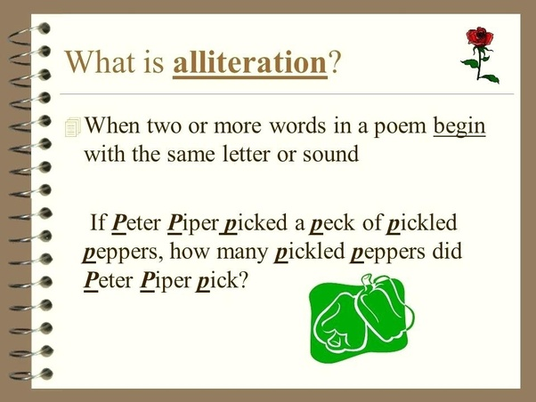 What is the term for two words starting with similar letter? - Quora
