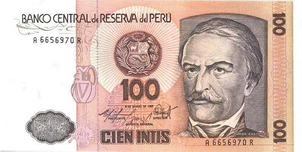 I have a 100 cien intis peru is it worth anything now quora absolutely nothing if we are talking about money peruvian currency is no longer called inti but nuevo sol since 1990 and now it is called sol altavistaventures Image collections