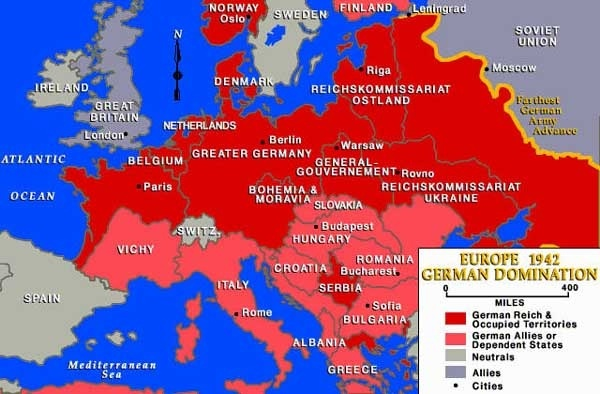 Did germany have more chance to win in ww1 than in ww2 quora i mean you can look at how much terreitory was either occupied or allied to germany in ww2 in the map below gumiabroncs Images