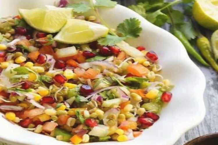Corn and sprouts healthy snack recipe