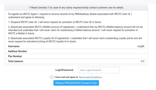 Comment désactiver mon compte IRCTC